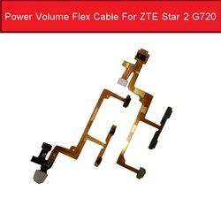 Volume & cabo flexível de alimentação para zte star 2 g720 para cima/para baixo volume e ligar/desligar lado botão flex fita peças de reposição