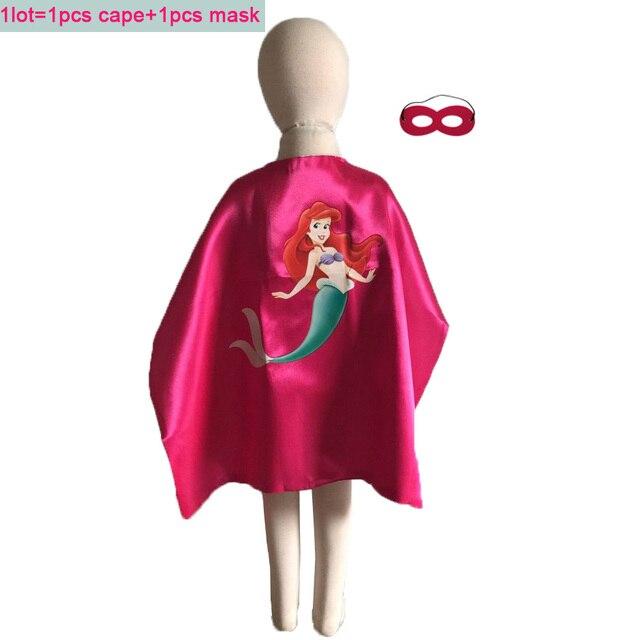 Double Side 27 polegada Brinquedos & Trajes de Super-heróis Cape Conjunto Máscara de Super-heróis de Banda Desenhada Para Crianças Festa de Aniversário Favorece Suprimentos