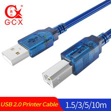 GCX High Speed USB 2.0 Printer Cable Type A to B Male Dual Shielding Scanner Cord For HP Canon Epson Dell USB-B 1.5m 3m 5m 10m стоимость