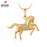 Gold Plated Horse Auspicious Zodiac Clavicle Short Chain Necklace With Female Fashion Necklace Allergy Free