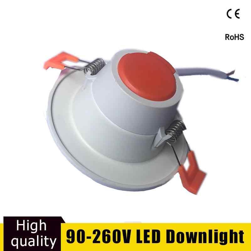 Светодиодный потолочный светильник 5 Вт 9 Вт 12 Вт круглый встраиваемый светильник Focos светодиодный Techo 220 В 110 В для Cocina гостиной Светодиодный точечный светильник