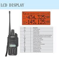 vhf uhf Waterproof 2pcs IP67 נגד אבק מכשיר קשר Retevis RT6 Dual Band 5/3 / 1W VHF / UHF שתי דרך רדיו FM השחורה RU ספינה (3)