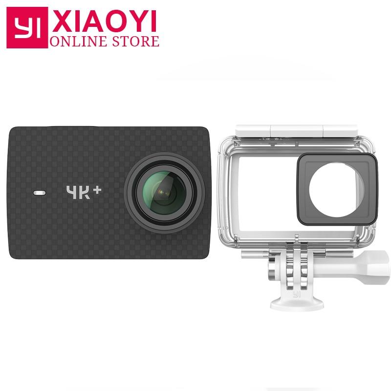Международное издание xiaoyi Yi 4 К + действие Камера Ambarella H2 4 К/60fps 12MP 2.19 raw 155 градусов 4 К плюс Action Sports Камера