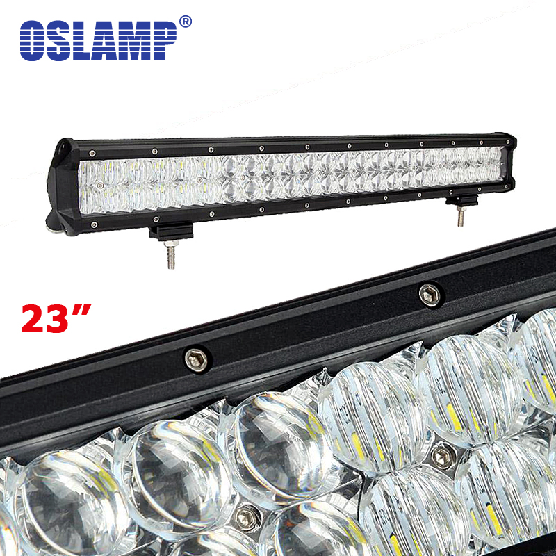 Oslamp 240W 23inch 5D LED Light Bar 4X4 OffRoad Combo Led Bar for Pickup Truck SUV Boat ATV Pick-Up Car Front Light (Spot+Flood) motorcycle bike parts custom rear luggage rack mount pole with american usa chrome flag for harley