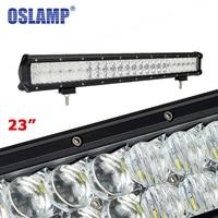 Oslamp 240W 23inch 5D LED Light Bar 4X4 OffRoad Combo Led Bar for Pickup Truck SUV Boat ATV Pick Up Car Front Light (Spot+Flood)