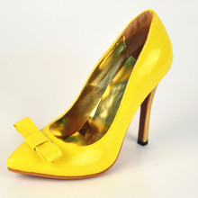 Chaussure Femme 2015 Plus Size Women Pumps Cheap Bow High Thin Heels Slip On Real Image Fashion Ladies Party Shoes Sexy Sandals