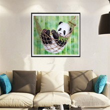 Diy diamond Painting panda have a rest pictures Cross Stitch diamond embroidery home Decoration diamond mosaic ZS266