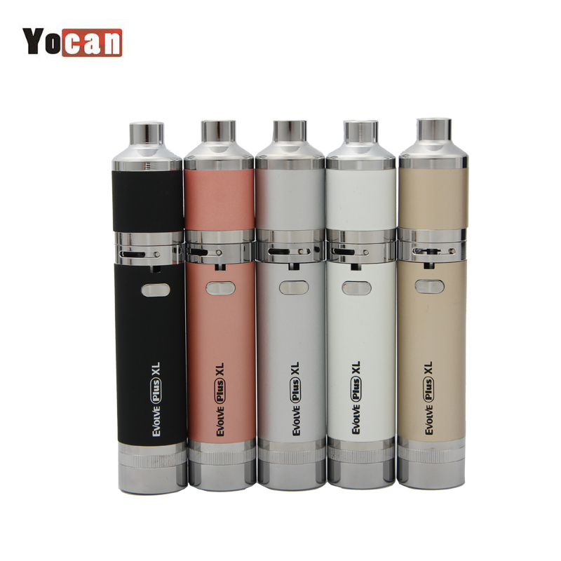 Original Yocan Evolve Plus XL Starter Kit Trockenen Kraut Wachs Vape Stift Quarz Stange Spule 1400 mah Batterie E Zigarette