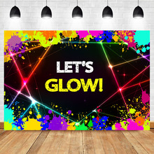 NeoBack Glow Neon Laser Party Photo Background Lets Splatter Graffiti Wall Photography Backdrops Studio Shoots