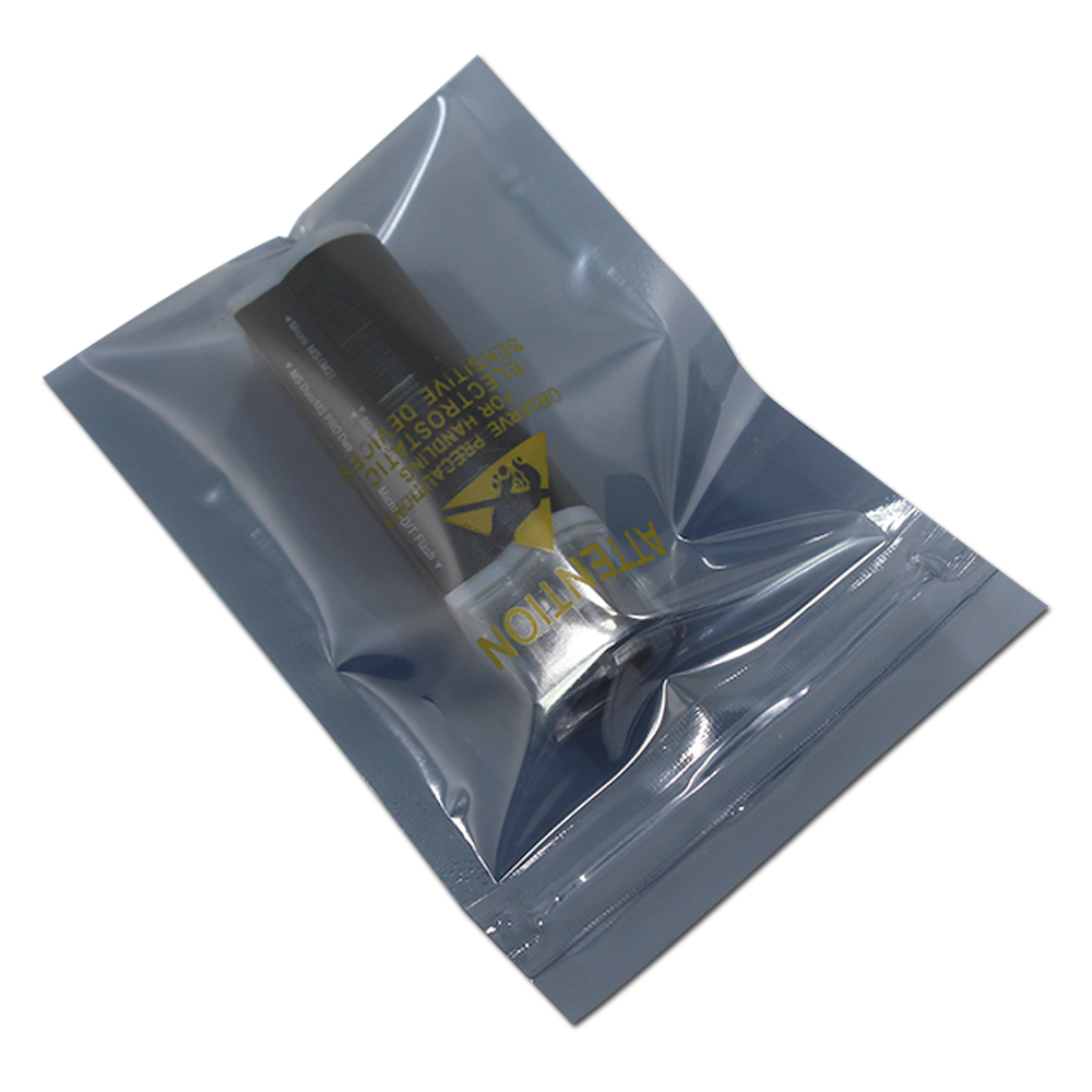 DHL Reusable Zipper ESD Bags Printed Moisture Proof Zip Lock Seal Anti Static Shielding Package Pouch for Electronic Accessories