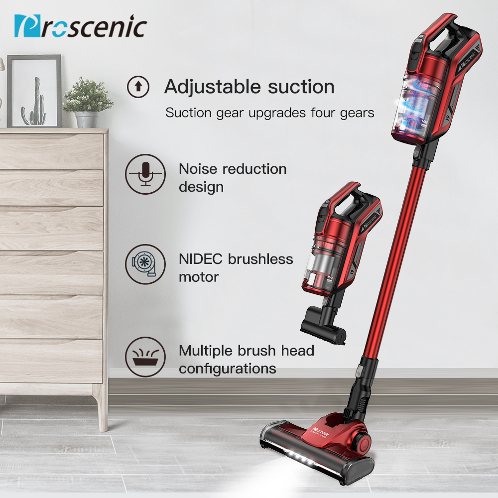 Proscenic I9 Cordless Vacuum Cleaner 22000Pa Powerful 2in1 Lightweight Handheld Vacuum With Recharging Li-ion Battery LED Brush