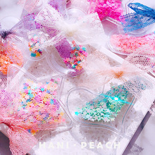 Hair Clips for Girls Cartoon Mickey Sequin Hairpin Heart PU Korean Lace Band Bows Children Fashion Accessories