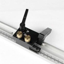 T-tracks da liga de alumínio com escala e mitra track stop e t-slot barra de mitra trilha roteador tabela viu bancada de trabalho diy