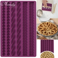 Aomily 3D Knit Rope Silicone Pearl Fondant Mould Cake Border Decorating Molds Sugar Icing Gumpaste Kitchen