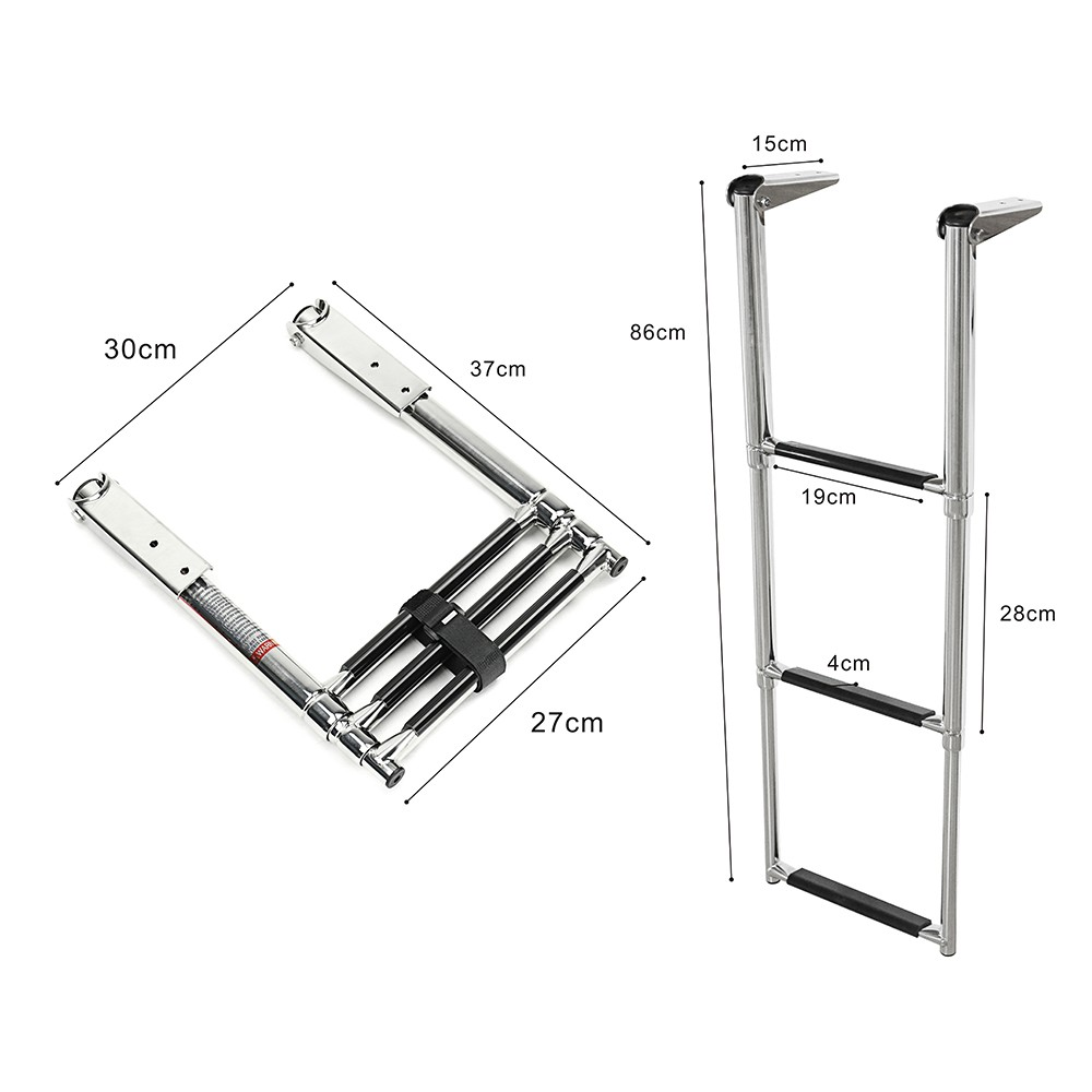 3 Step Stainless Steel Telescoping Marine Boat Ladder Swim Step Over Platform-in Marine Hardware from Automobiles & Motorcycles    2