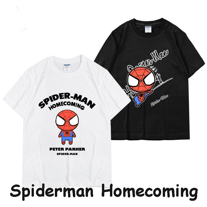 2017 Hot Movie Spiderman Homecoming figure Peter spider print t-shirt cosplay tshirt cotton top tee unisex fashion