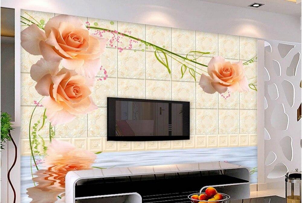 8e4dddf5ec7 Пользовательские фото обои большой 3D стерео романтическая роза Box обои  личности Настенная Обои живопись