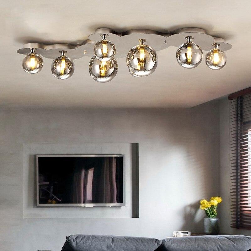 Modern Ceiling Lights For Home Lighting Luminaire Art Design Glass Shade Lamp G9 Bulb Living Room Lamparas De Techo
