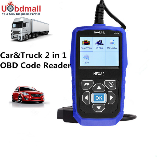 Newest Car Truck 2 in 1 Auto Diagnostic-Tool Automotive Scanner NL102 Diesel Heavy Duty Engine Analyzer with Battery Tester