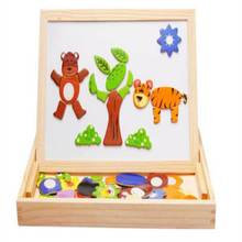 2017 New Style Baby Kids Learning Educational Farm Animal Wooden Fridge Magnetic Puzzle Funny Toys H2