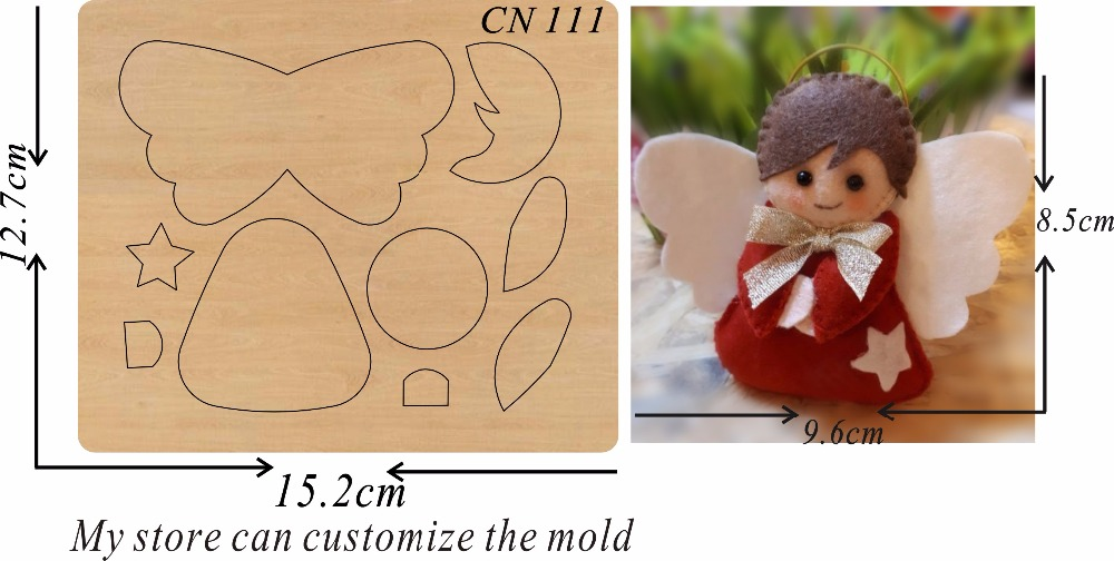Angel boy 2 new wooden mould cutting dies for scrapbooking Thickness 15 8mm