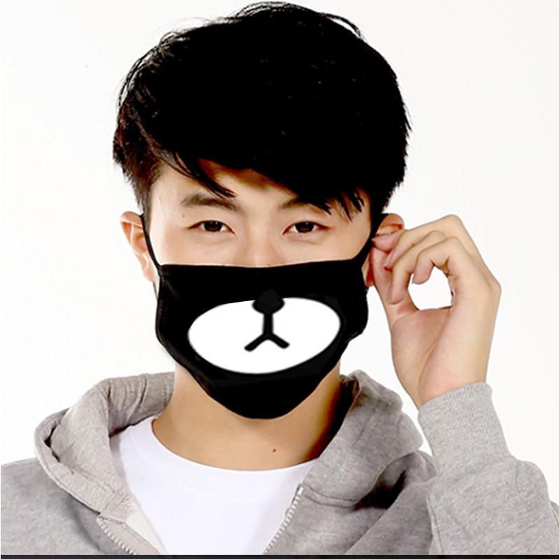 Fashion-Black-Anti-Dust-Cotton-Cute-Bear-Masks-Anime-Cartoon-Kpop-Lucky-Bear-Wom1en-Men-Muffle