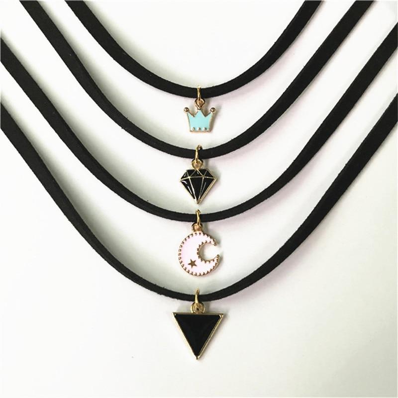 Women's Fashion jewelry Velvet strip silver Necklace pendant(I'm special unicorn