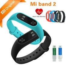 Original Xiaomi mi band 2 Bracelet Smart Wristband mi band 2 Miband Smart Watch Fitness Tracker Heart Rate Touchpad OLED Stock