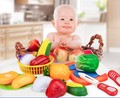 Vegetable Fruit kitchen cooking toys pretend play game for children one set