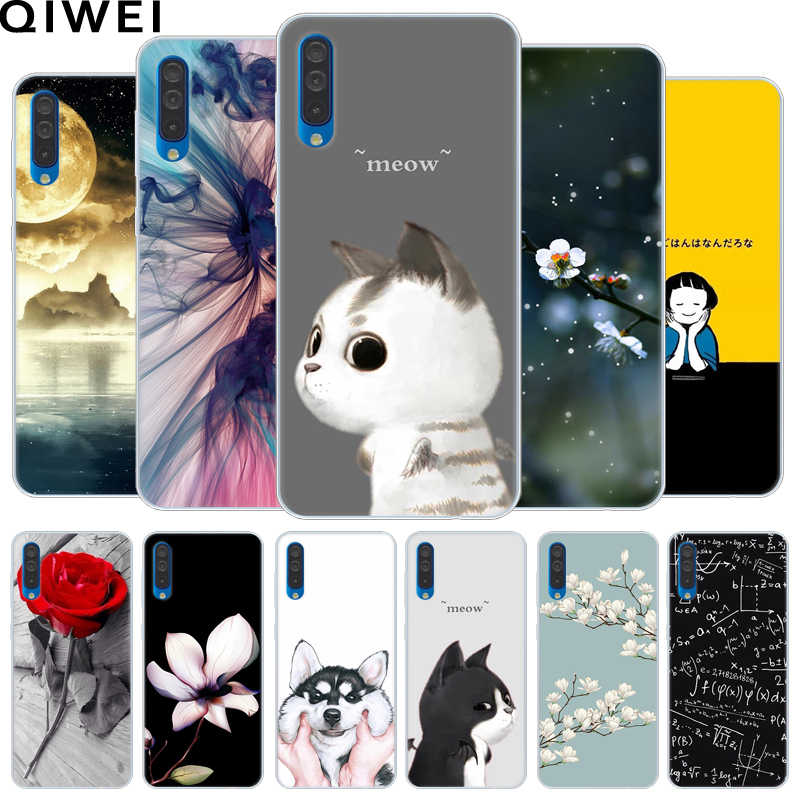 For Samsung Galaxy A50 Case 6.4'' Soft TPU silicone Back Cover for Samsung A50 Phone Cases A 50 A505 A505F SM-A505F SM-A505F/DS
