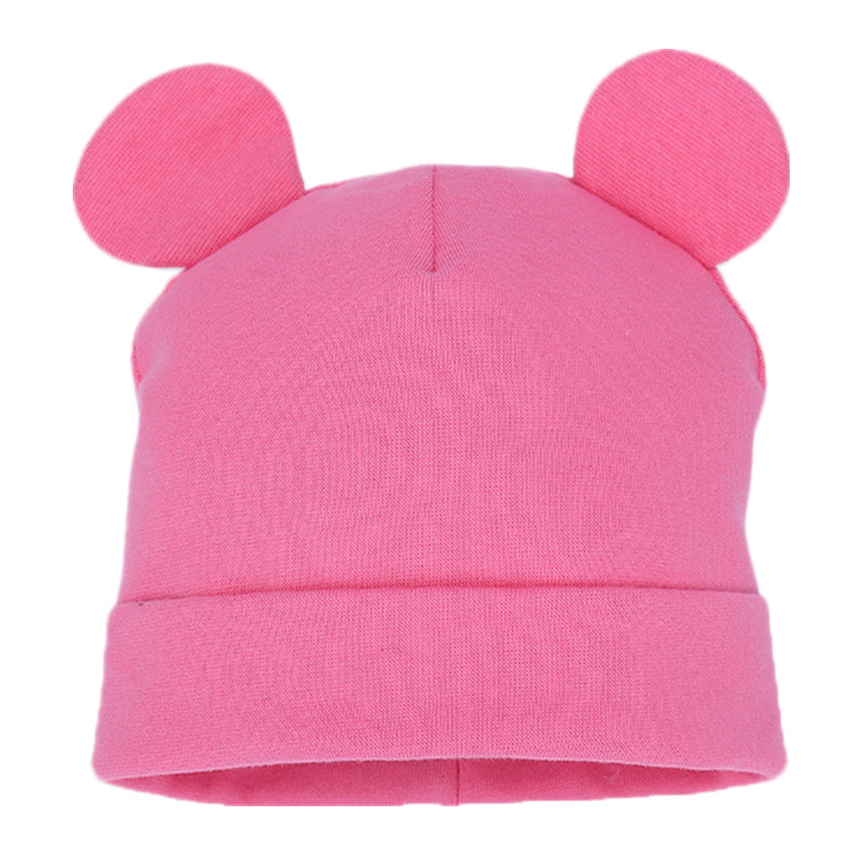 Children Cotton Solid Cap Soft Warm Hat Cartoon Cute Bear Ear Hats for Boys Girl Cute Ears Spring Autumn Baby & Kids   Beanie   Caps