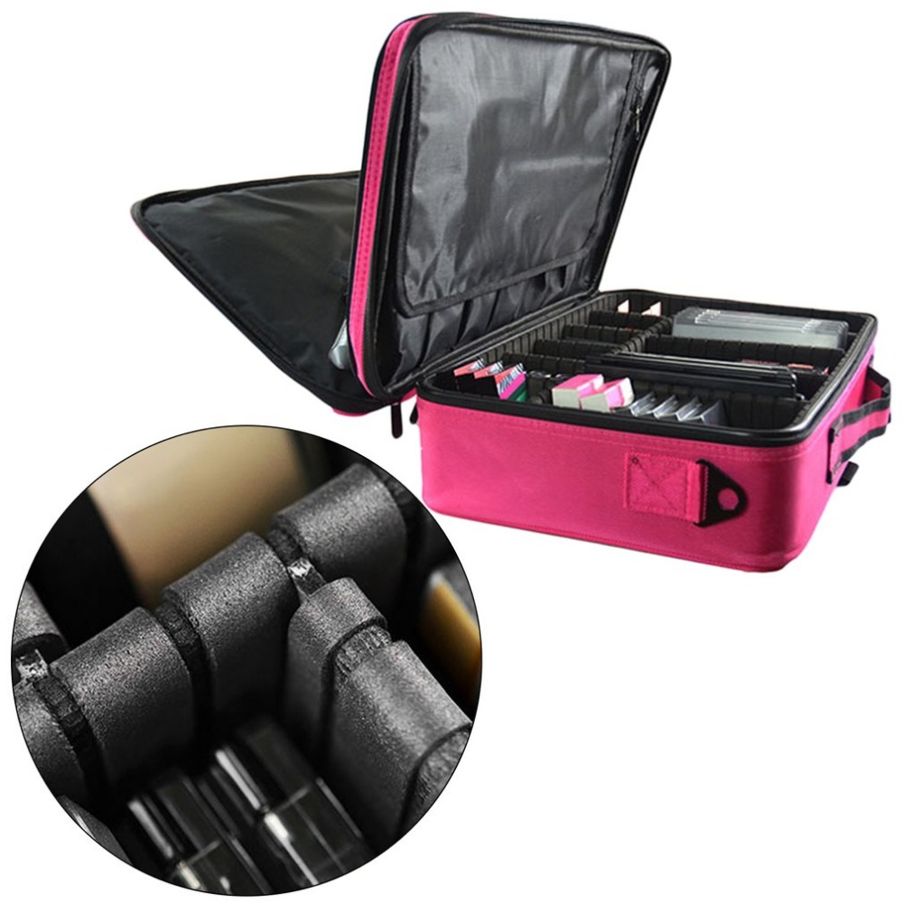 все цены на 2017 New Makeup Organizer For Brush Set Jewelry Cosmetic Case Travel Large Capacity Portable Storage Bag Suitcases for women онлайн