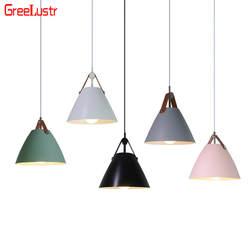 Nordic светодиодный люстры Алюминий светильник абажур подвесной светильник Lustre детей Люстра для домашнего освещения светильники