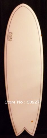 6'2 EPS Fish surfboard Double pinline tri fin