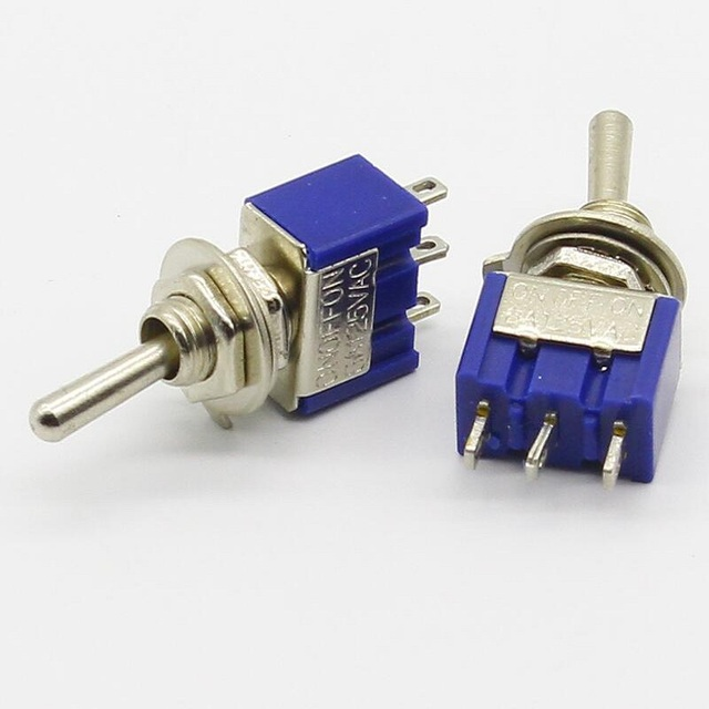 6mm button switch blue 3p3t toggle switch 3 feet 3 gear x10 in