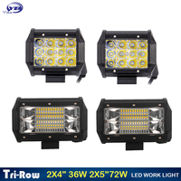 2 Pcs 4 Inch 36W 5 Inch 72w New Wide Beam Flood Beam Waterproof 4x4 Tractor