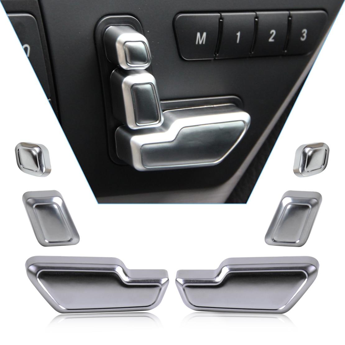 Beler جديد كروم مقعد الباب ضبط زر التبديل غطاء الكسوة لمرسيدس بنز E الفئة W212 218 CLS X166 GL 2014 2015