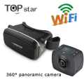 Magicsee C1 360 Camera Panoramic Dual Lens Mini VR Camera 360 Degrees F2.0 1080P 30fps Camera +VR Glasses Virtual Reality