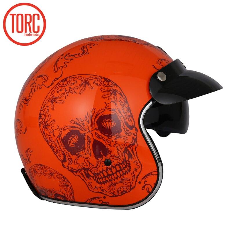 New arrival Torc 3 4 open face vintage scotter jet motorcycle helmet retro vespa helmets casque