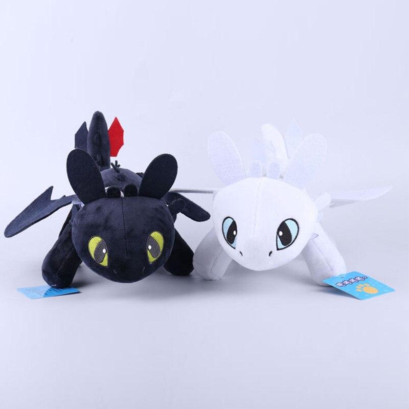 30cm desdentado luz fúria como treinar seu dragão 3 brinquedos anime figura noite fúria dragão boneca de pelúcia brinquedos para crianças