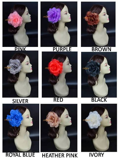 16cm Silk Flower for for wedding accessories/sinamay hat/fascinator,with brooch pin hair clip,9 colors.FREE SHIPPING