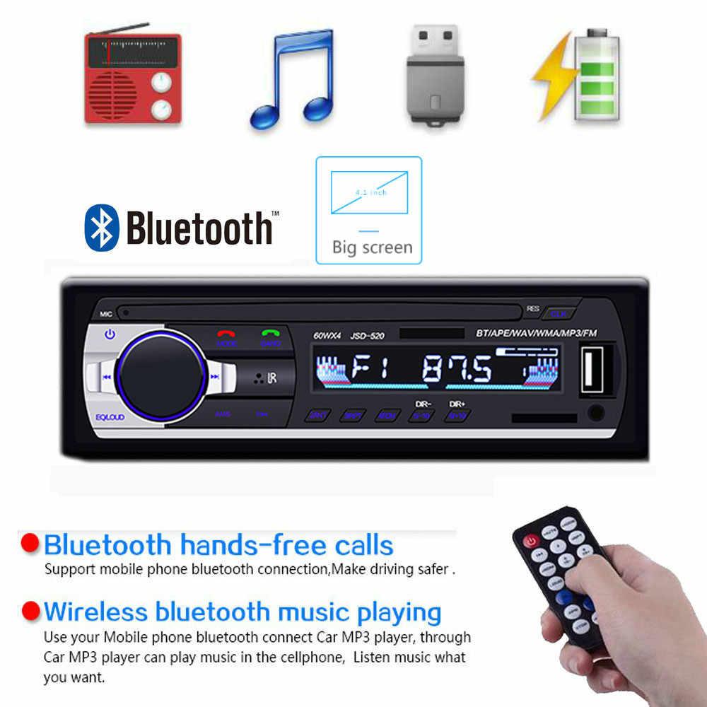 ชาร์จโทรศัพท์ 1din วิทยุ Autoradio วิทยุบลูทูธสเตอริโอ AUX-IN MP3/FM/USB In - Dash Audio Remote ควบคุมซับวูฟเฟอร์