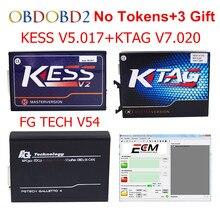 New KESS V5.017 V2.23 + KTAG V7.020 V2.23 + FG TECH V54 No Tokens Limit KESS 5.017 + K-TAG K Tag 7.020 FGTECH ECU Programmer