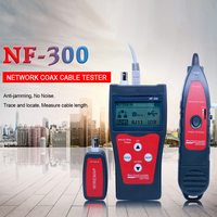 Professional LCD Network Wire Tracker Cable Finder RJ11 RJ45 Wire Length Line Tester With Remote Adapter Earphone NF 300