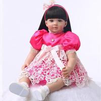 Princess Bebes Reborn Doll 59cm Silicone Reborn Baby Dolls Hottest cute Lifelike Girl Kids interesting Toy alive Ethnic doll