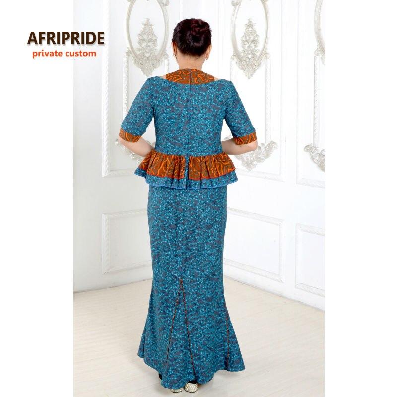 2019 Afrique robes pour femmes classique style élégant coton - Vêtements nationaux - Photo 4