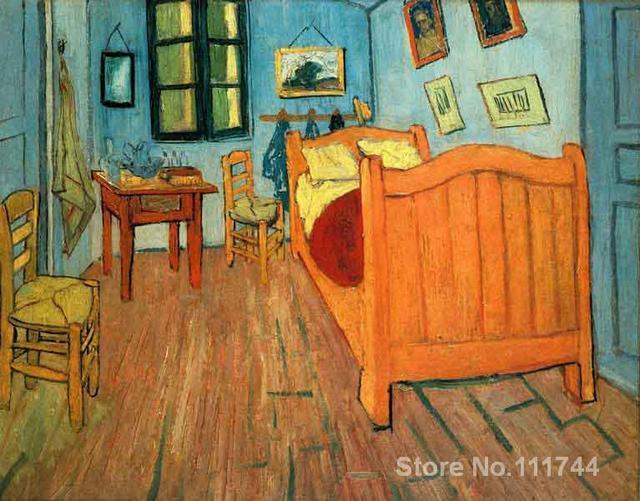 Arte moderna pittura su tela La Camera Da Letto Ad Arles dipinto a ...