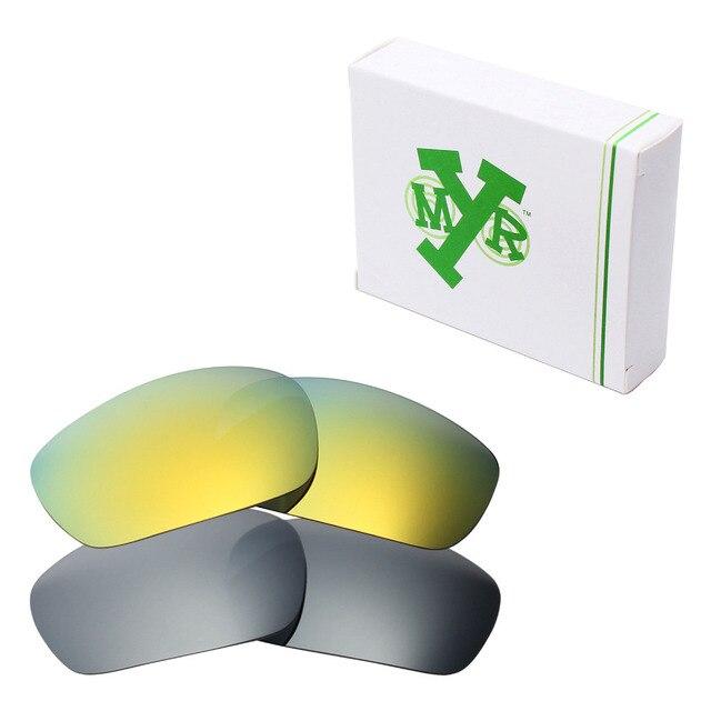 2 Pairs MRY ПОЛЯРИЗОВАННЫХ Сменные Линзы для Oakley Jawbone Солнцезащитные Очки Серебряный Titanium & 24 K Золото