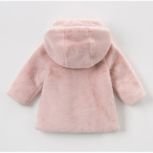 Image 2 - Baby Girls Winter Coat Kids Clothes Rabbit Fur Coat For Girls Jackets Baby Clothes Warm Parka Clothing For Girls Costume 1 6T