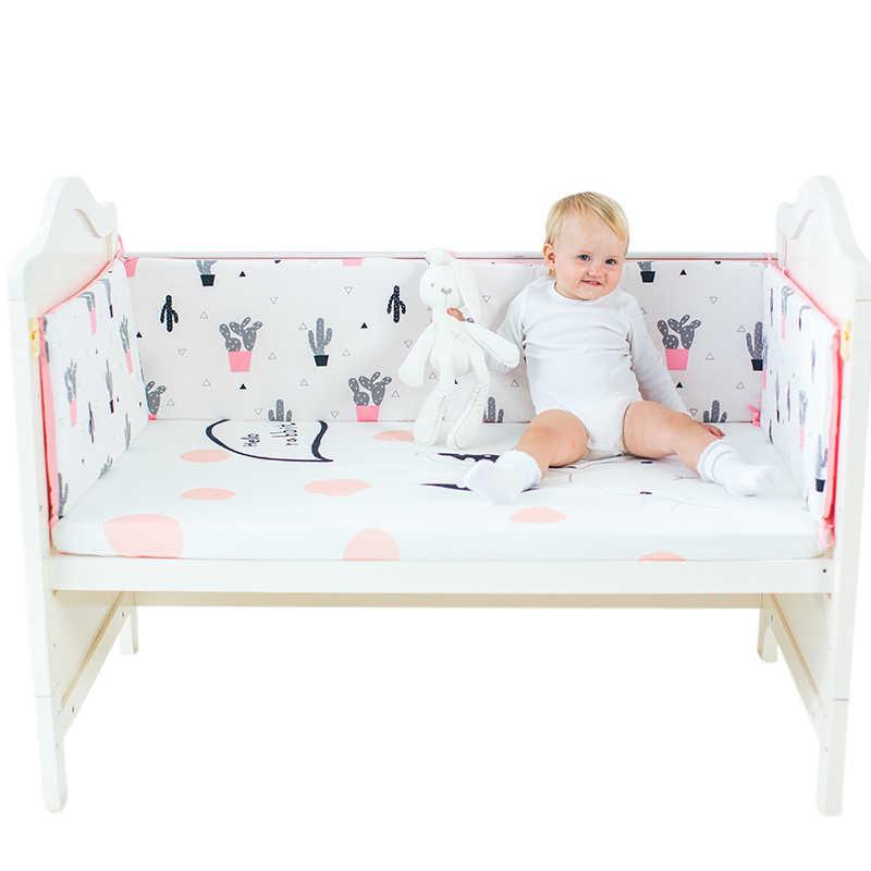 เด็กทารกเด็กหญิงกันชน Protector เตียงชุดผ้าฝ้ายทารกสัตว์พิมพ์ทารกแรกเกิดเปล Play Sleep พนักพิงผ้าปูที่นอน